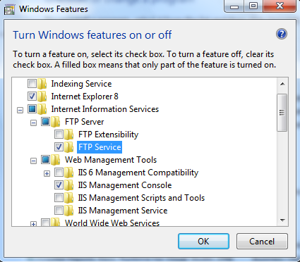 2   Turn on FTP services in Windows 7 or Vista | Map Pin